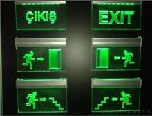 ışıklı-exit tabelası